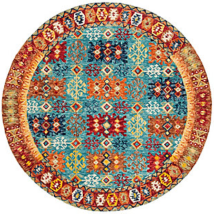 Accessory 7' x 7' Round Rug, Multi, large