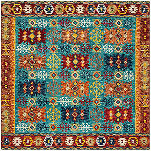 Accessory 7' x 7' Square Rug, Multi, large