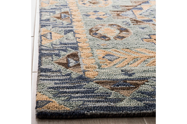 Accessory 5' x 8' Area Rug, Blue/Beige, large
