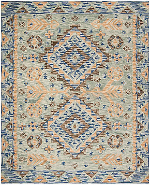 Accessory 8' x 10' Area Rug, Blue/Beige, large