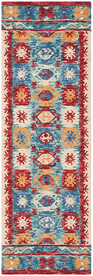 "Accessory 2'3"" x 7' Runner Rug, Multi, large"