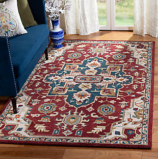 Accessory 5' x 8' Area Rug, Red/Beige, rollover