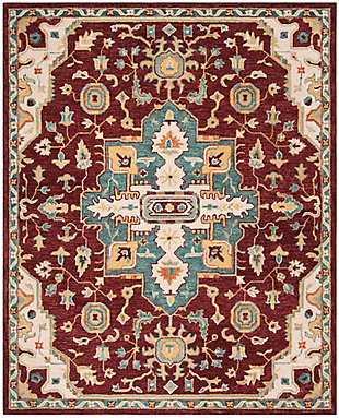 Accessory 8' x 10' Area Rug, Red/Beige, rollover