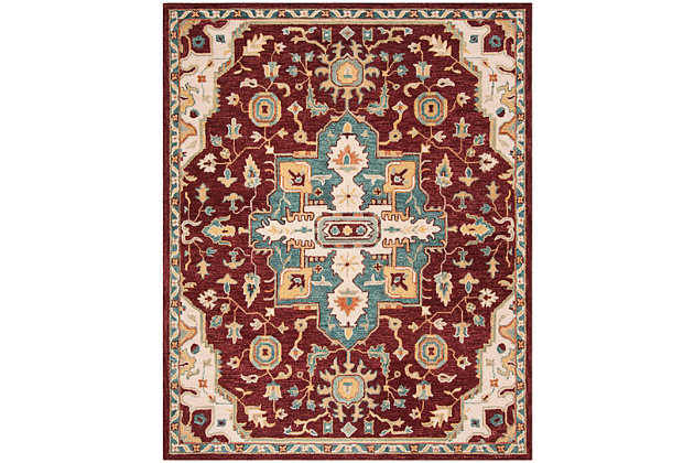 Accessory 8' x 10' Area Rug, Red/Beige, large