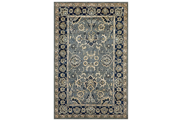 Home Accents 8' x 10' Rug, Blue, large