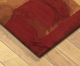 Home Accents 5' x 8' Rug, Red, rollover