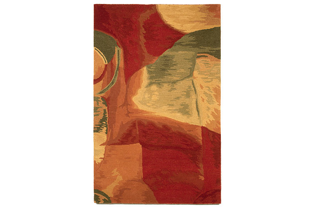 Home Accents 8' x 10' Rug, Red, large
