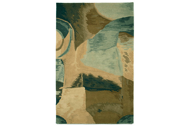 Home Accents 5' x 8' Rug, Natural, large