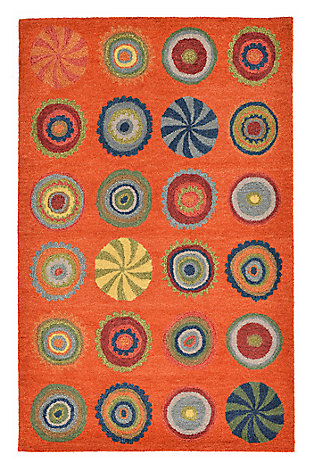 Home Accents 5' x 8' Rug, Orange, large