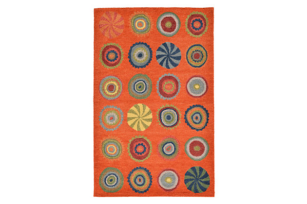 Home Accents 5' x 8' Rug by Ashley HomeStore, Orange