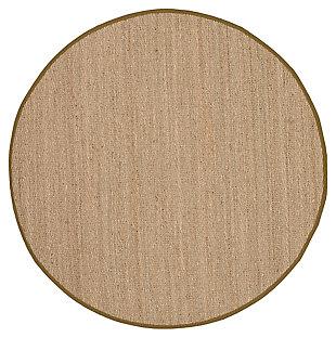 Natural Fiber 6' x 6' Round Rug, Beige/Natural, large