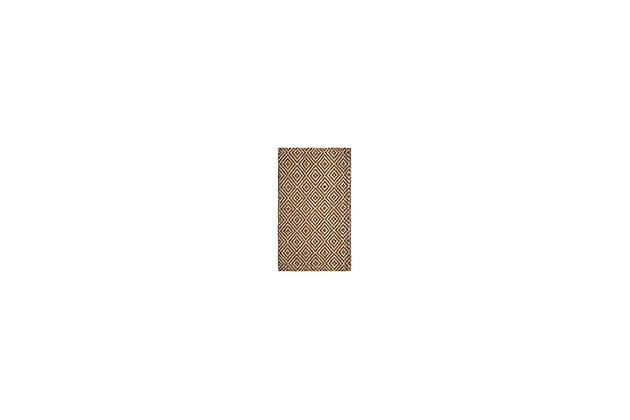 Natural Fiber 3' x 5' Doormat, Beige/Natural, large