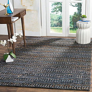 Natural Fiber 8' x 10' Area Rug, Gray, rollover
