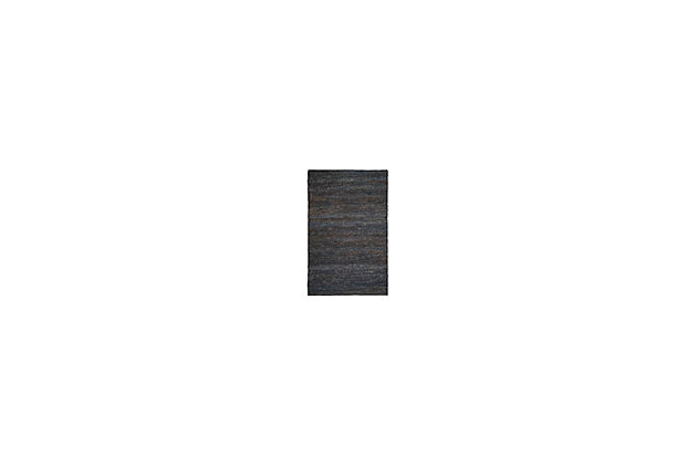 Natural Fiber 5' x 8' Area Rug, Gray, large