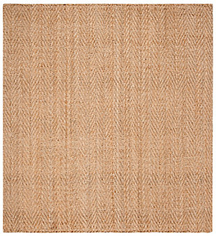 Natural Fiber 6' x 6' Square Rug, Beige/Natural, large