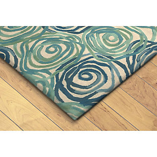 """Home Accents 3'6"""" x 5'6"""" Rug, Blue, large"""