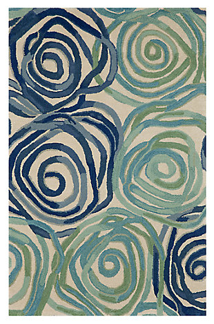 "Home Accents 3'6"" x 5'6"" Rug, Blue, large"
