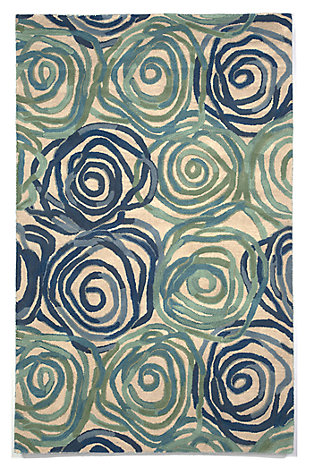 Home Accents 5' x 8' Rug, Blue, large