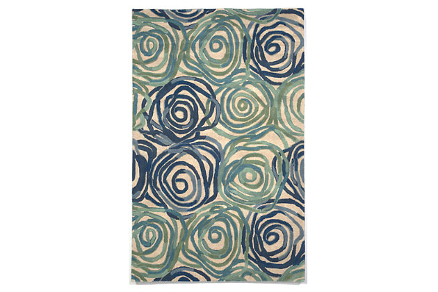 Home Accents 5' x 8' Rug by Ashley HomeStore, Blue