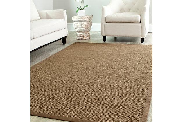 Natural Fiber 5' x 8' Area Rug, Brown, large