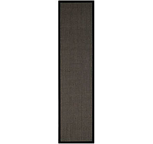 Natural Fiber 2' x 12' Runner Rug, Charcoal, large