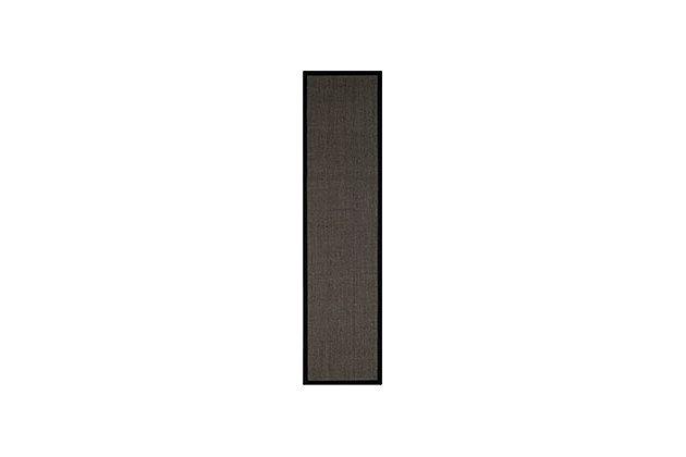 """Natural Fiber 2'6"""" x 12' Runner Rug, Charcoal, large"""