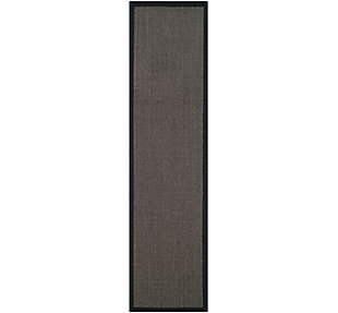 Natural Fiber 2' x 8' Runner Rug, Charcoal, large
