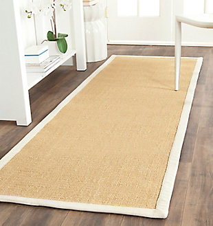 "Natural Fiber 2'6"" x 8' Runner Rug, Beige/Natural, rollover"