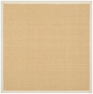 Natural Fiber 6' x 6' Square Rug, Beige/Natural, rollover