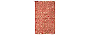 Natural Fiber 6' x 9' Area Rug, Rust, large