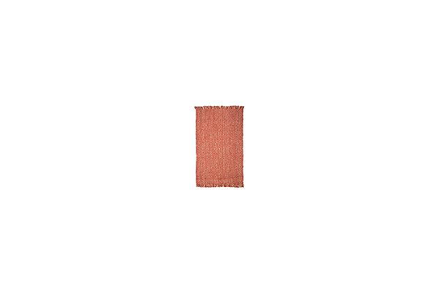 Natural Fiber 6' x 9' Area Rug, Rust, large