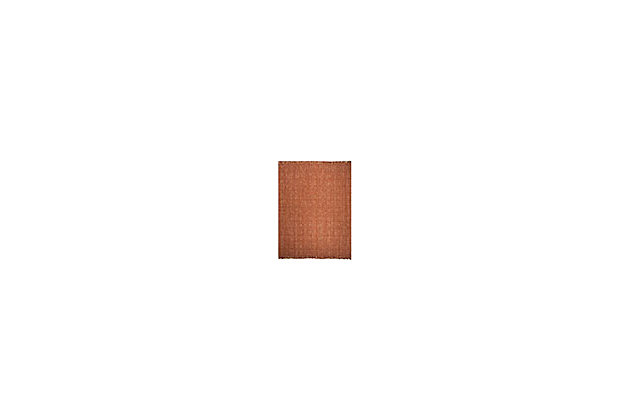 Natural Fiber 8' x 10' Area Rug, Rust, large