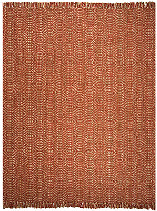 Natural Fiber 8' x 10' Area Rug, Rust, rollover