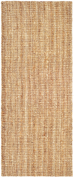 Natural Fiber 2' x 8' Runner Rug, Beige/Natural, large