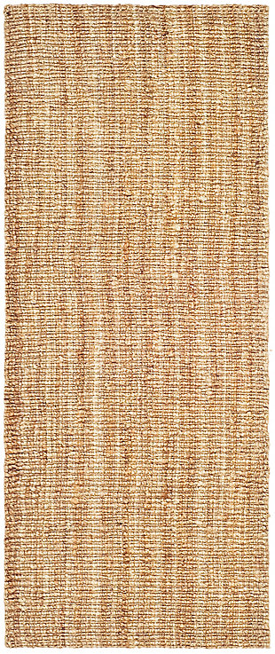 Natural Fiber 2' x 8' Runner Rug, Beige/Natural, rollover