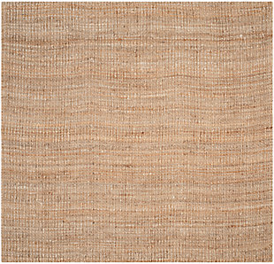 Natural Fiber 8' x 8' Square Rug, Beige/Natural, large