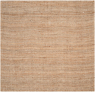 Natural Fiber 8' x 8' Square Rug, Beige/Natural, rollover