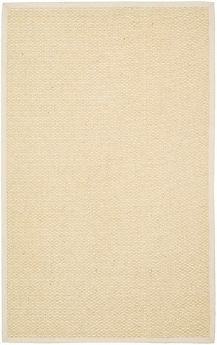 Natural Fiber 5' x 8' Area Rug, Cream, large