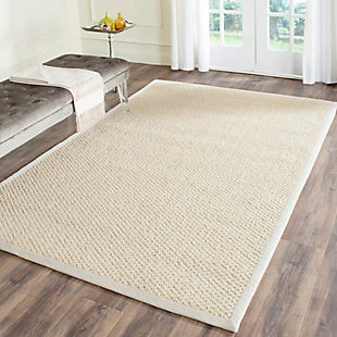 Natural Fiber 5' x 8' Area Rug, Cream, rollover