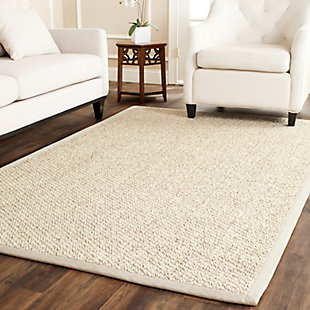 Natural Fiber 5' x 8' Area Rug, Marble, large