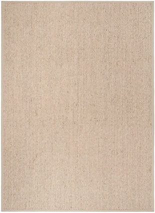 Natural Fiber 8' x 11' Area Rug, Marble, rollover