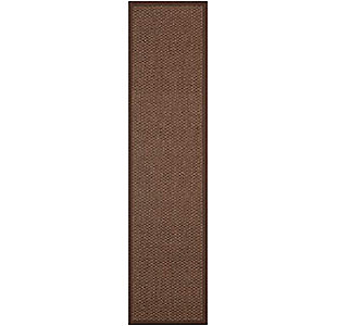 Natural Fiber 2' x 8' Runner Rug, Chocolate, large