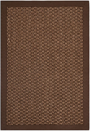 Natural Fiber 3' x 5' Doormat, Chocolate, rollover