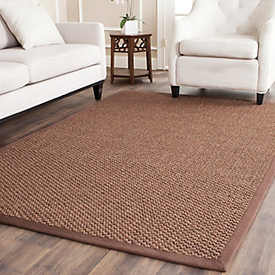 Natural Fiber 6' x 9' Area Rug, Chocolate, rollover