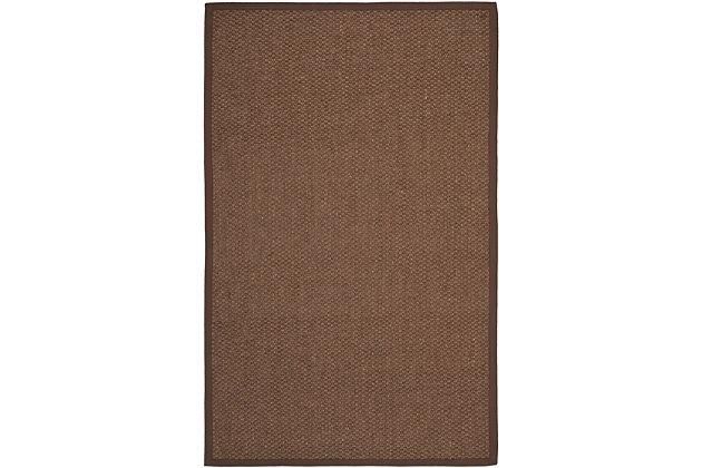Natural Fiber 6' x 9' Area Rug, Chocolate, large