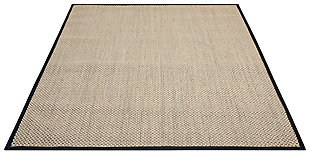 "Accessory Beechwood Charcoal 3'6"" x 5'6"" Area Rug, Natural, large"