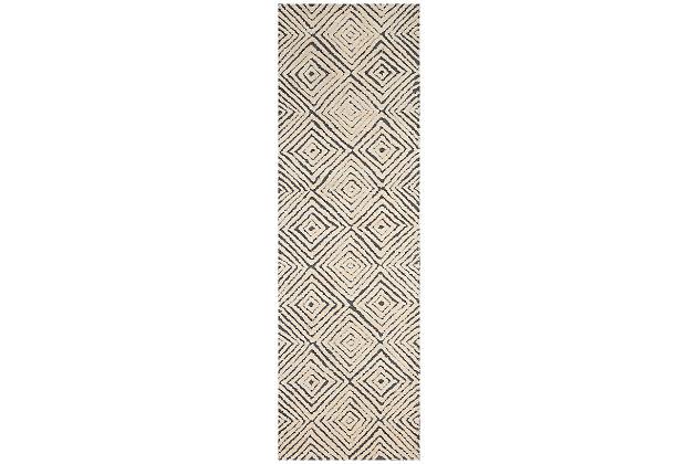 "Accessory Deco Mod Grey/Ivory 5'3"" x 7'4"" Area Rug, Charcoal/Ivory, large"