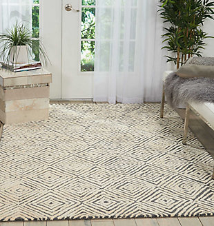 """Accessory Deco Mod Grey/ivory 5'3"""" X 7'4"""" Area Rug, Charcoal/Ivory, rollover"""