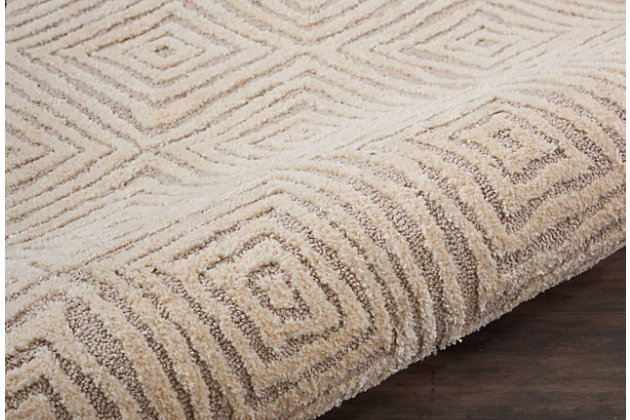 """Accessory Deco Mod Taupe/Ivory 2'3"""" x 7'6"""" Runner, Natural, large"""