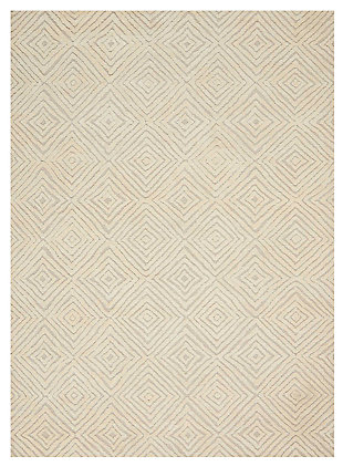 "Accessory Deco Mod Taupe/Ivory 3'9"" x 5'9"" Area Rug, Natural, large"